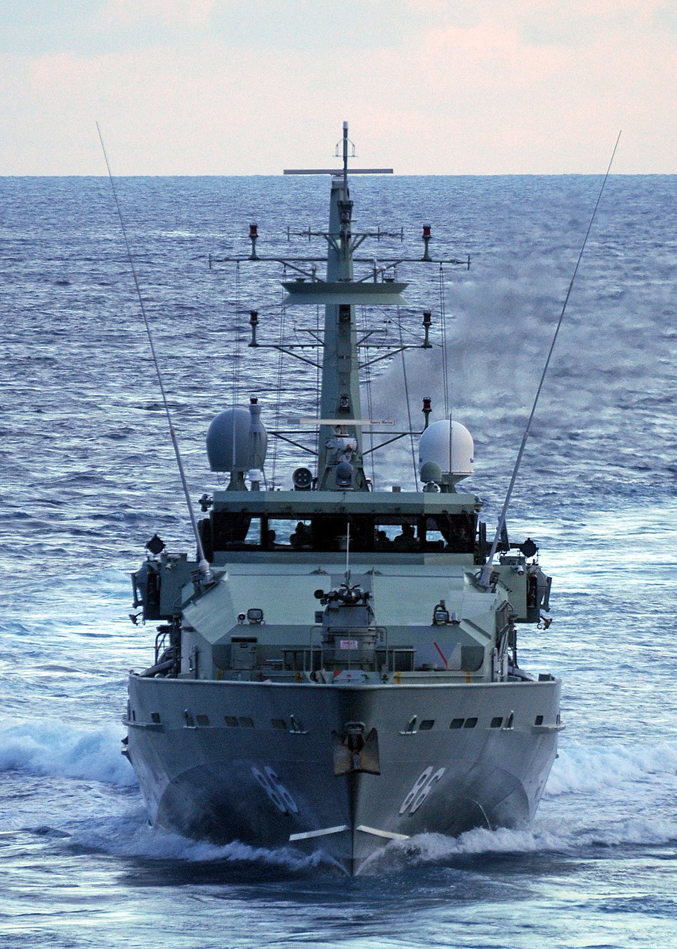 Bow view of HMAS Albany