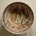 Bowl, Iran, Safavid period, 2nd half of 17th century, earthenware with overglaze luster painting - Cincinnati Art Museum - DSC04132.JPG