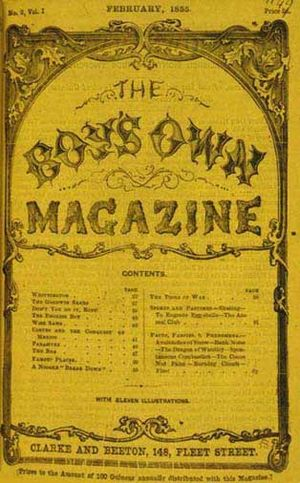 Samuel Orchart Beeton - Image: Boys Own Magazine Feb 1855
