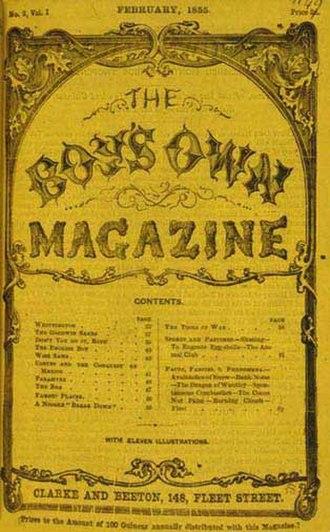 Samuel Orchart Beeton - Image: Boys Own Magazine Feb 1855