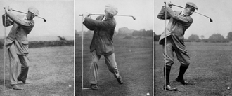 Great Triumvirate (golf) - A backswing study of Braid, Taylor and Vardon