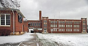 Libertyville High School - Brainerd Building is listed on the National Register of Historic Places.