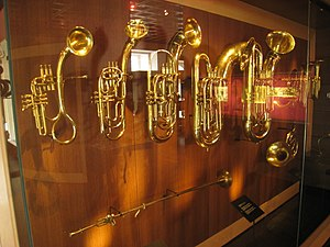 Brass instruments in the Musical Instrument Mu...