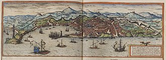History of Genoa - View of Genoa in 1572