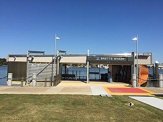 Bretts Wharf - New wharf in July 2015