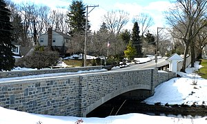 Bridge in Tredyffrin Township - Replacement bridge, built to resemble the original