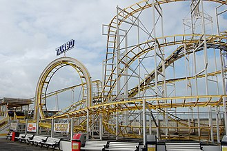Brighton Palace Pier - The Turbo roller coaster at the end of Brighton Palace Pier