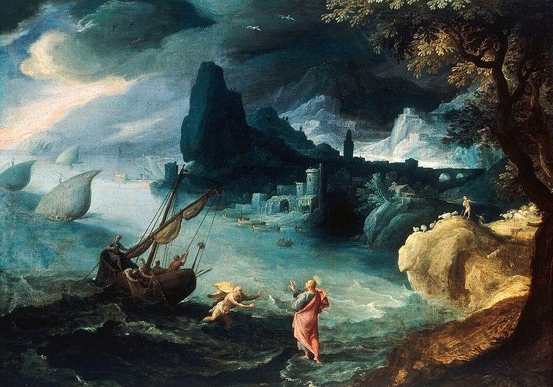 File:Bril Jesus walking on the Sea of Galilee.JPG