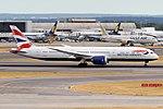 British Airways, G-ZBKR, Boeing 787-9 Dreamliner (42595958010).jpg
