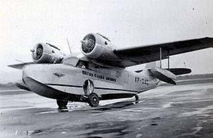 Guyana Airways - Grumman Goose of British Guiana Airways circa 1955. Piarco Airport, Trinidad.