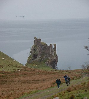 Brochel Castle Defences old and new - note the...