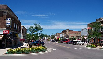 Brookings, South Dakota - Main Street in downtown Brookings