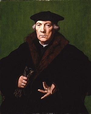 Jean Carondelet - Jan Cornelisz. Vermeyen (Dutch, 1500-1559). Portrait of Jean de Carondelet, ca. 1530. Oil on panel. Brooklyn Museum