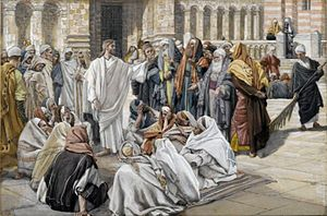 Date of birth of Jesus - Dispute of Jesus and the Pharisees, by James Tissot, c. 1890