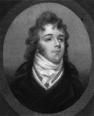 Beau Brummell - Brummell, engraved from a miniature portrait