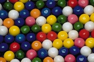 Bubble gum - Various colours of bubblegum balls
