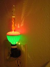 Nightlight - Wikipedia:A decorative bubble light used as a nightlight,Lighting