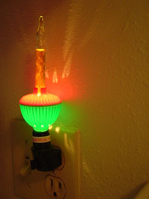 Nightlight - A decorative bubble light used as a nightlight