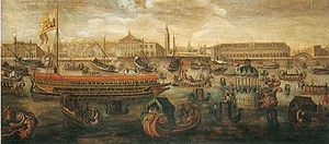 Bucentaur - Sebastian Vrancx's Trionfo sul Bucintoro in Bacino San Marco di Morosina Morosini Grimani (The Triumphal Entry of Morosina Morosini-Grimani on the Bucentaur into St. Mark's Basin, 17th century)