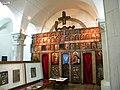 Bucharest, Romania. Museum of the Romanian Peasant. Iconostas with cross.jpg