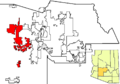 Buckeye in Maricopa County map.png