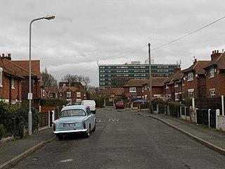 Sharston Area of Manchester, England, United Kingdom