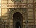 Budapešť, Erzsebetváros, synagoga, vchod.JPG