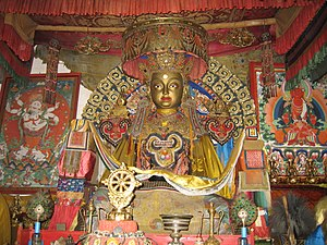 Buddhism in Mongolia - Buddha statue in the Erdene Zuu Monastery, Karakorum