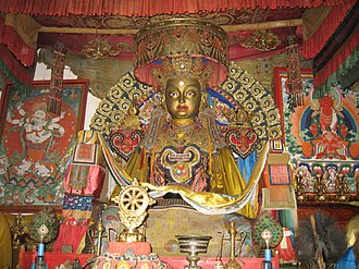 Buddhism in Mongolia - Buddha statue in the Erdene Zuu Monastery, Karakorum