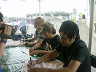 Building 429 at a meet and greet at the 2007 Higher Ground Music Festival in Winsted, MN.JPG