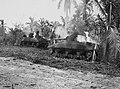 Burning tanks in Yigo during the Battle of Guam 1944 (49481773263).jpg