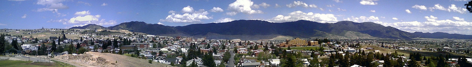 Butte seen from the campus of Montana Tech