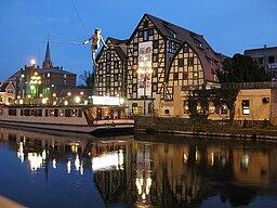 Bydgoszcz Spichlerze wieczór