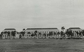 Lapangan Banteng - Daendels palace, Witte Huis (White House) or Groote Huis (Great House), today Indonesian Ministry of Finance.
