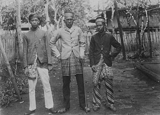 Lampung people - A village head from a village by the Way Umpu river in Lampung, 1901.