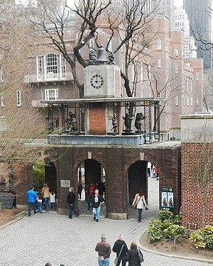Central Park Zoo - Musical clock tower at north gate