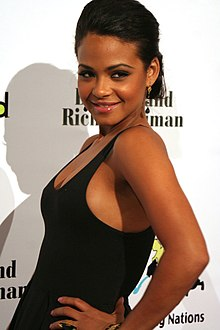 Christina Milian 2008 akiwa katika sherehe za  Billboard na Children Uniting Nations Oscar Party.