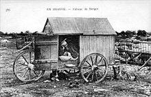 Cabane mobile d'un berger beauceron au début du XXesiècle