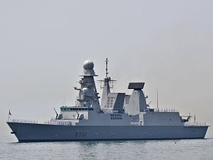 Aster (missile family) - Italian Horizon-class frigate, ''Caio Duilio'' equipped with Aster 15 and 30 missiles