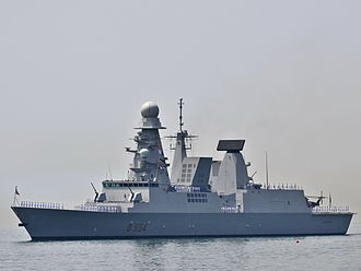 PAAMS - Italian Horizon-class destroyer, ''Caio Duilio'', equipped with the PAAMS(E) integrated anti-aircraft warfare system