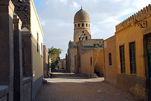 City of the Dead (Cairo) - Street with tombs in southern City of the Dead