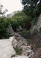 Camí empedrat entre bancals a la Vall de Gallinera.JPG