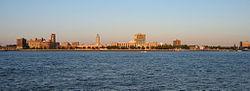 Camden waterfront skyline
