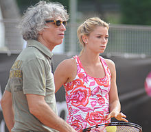 Camila agli Internazionali BNL d'Italia 2014 assieme al padre Sergio, suo allenatore.