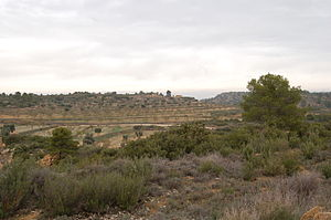 Battle of Maella - View of the battlefield of Maella