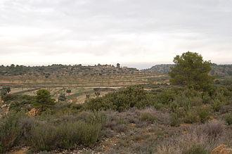 Battle of Maella - View of the battlefield of Maella