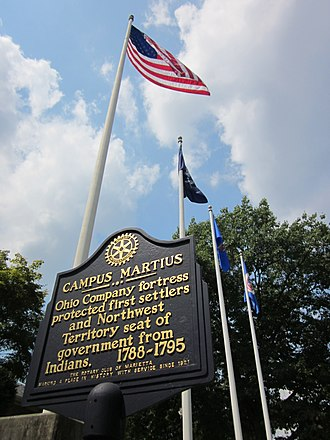 Campus Martius (Ohio) - Campus Martius plaque at Marietta, Ohio
