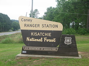 Kisatchie National Forest - Caney Ranger Station at Homer in Claiborne Parish