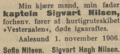 Captain Sigvart Nilsen death in Morgenbladet on November 1, 1906.png