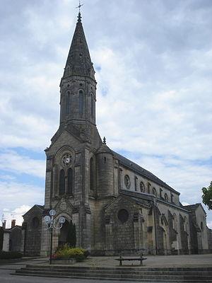Captieux - Image: Captieux (Gironde Fr), l'église